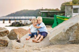 Dziecięca sesja na plaży
