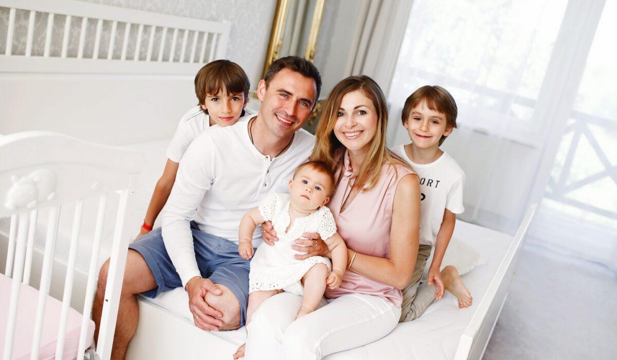Rodzinna sesja domowa