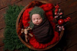 Mikołaj sesja noworodkowa