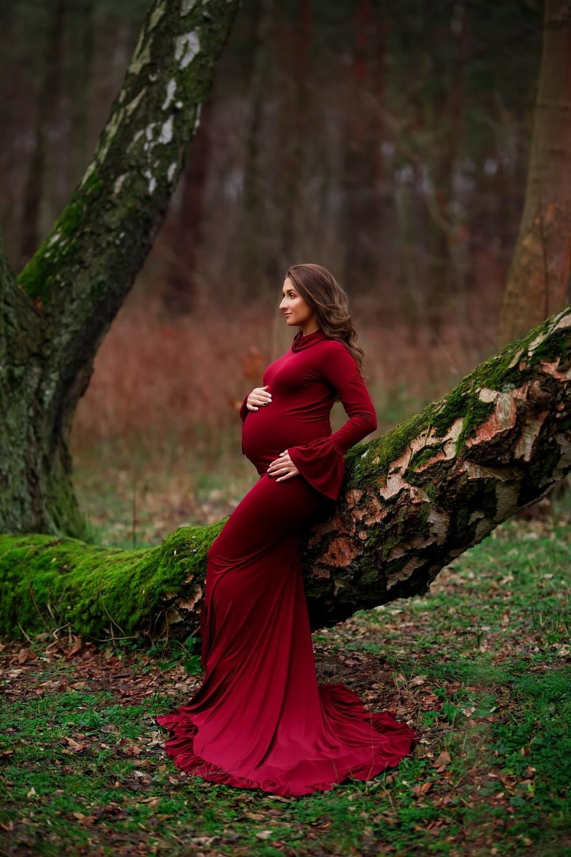 Iwonka sesja leśna ciążowa