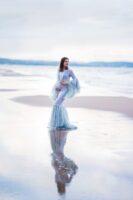 Marta sesja ciążowa na plaży i w lesie