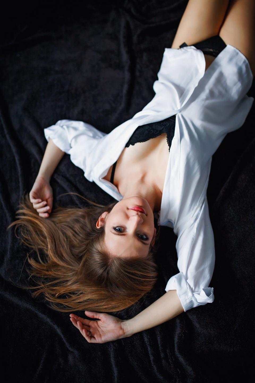 Justyna sesja kobieca w studio