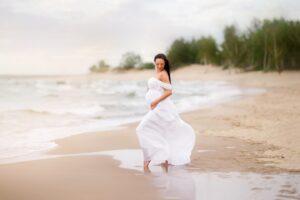 Ania sesja ciążowa część 2 nad morzem