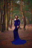Magdalena piękna sesja ciążowa w lesie